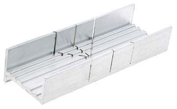 Mitre Box, Aluminum by Excel Hobby Blade Corp. $10.28. Alum. Mitre Box This aluminum mitre box is just 6 inches long making it ideal for making precise cuts in all kinds of miniature work. Each unit has three slots, two at 45 degree angles and one at a 90 degree angle. For use with Excel razor saws. Excel is known for making high quality blades and tools for hobbyists around the world.