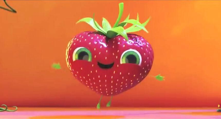 Barry The Strawberry From Cloudy With A Chance Of Meatballs 2