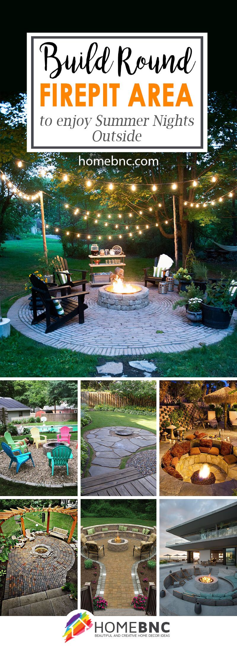 28 round firepit area ideas to enjoy summer nights outside