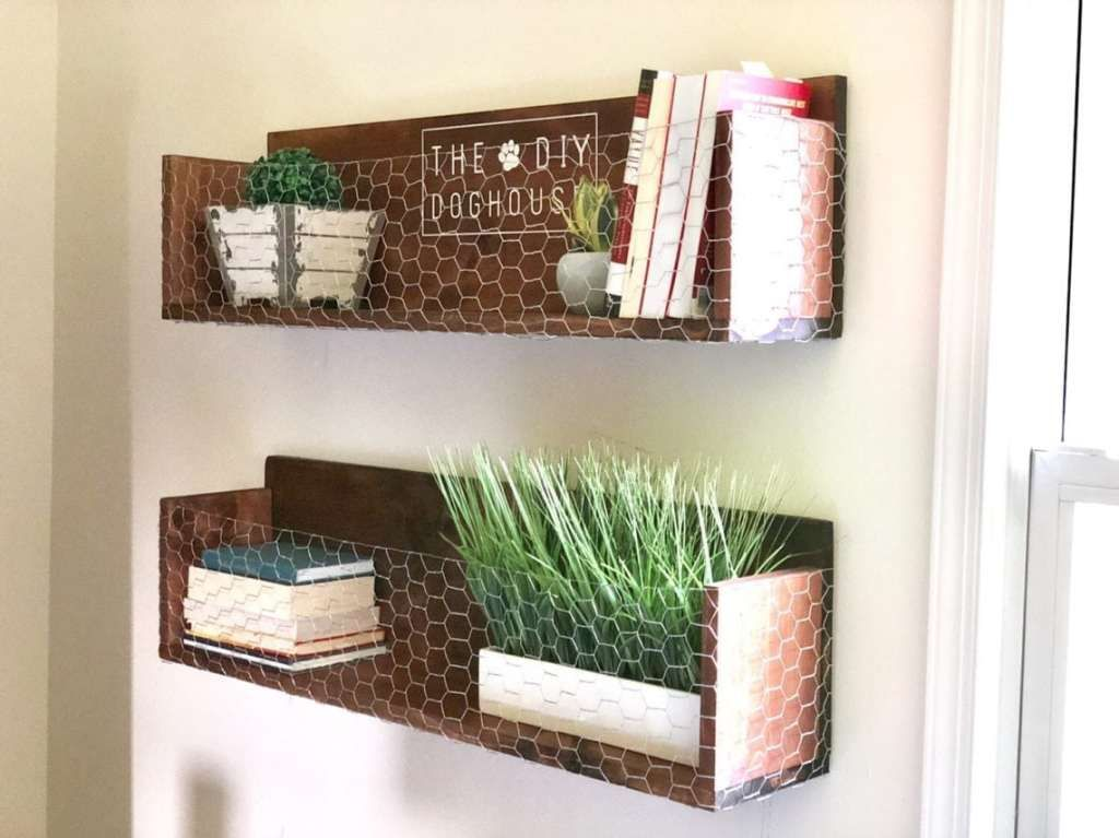 25 Incredibly Unique Shelving Ideas You Ll Want To Copy Chicken Wire Crafts Unique Shelves Shelves
