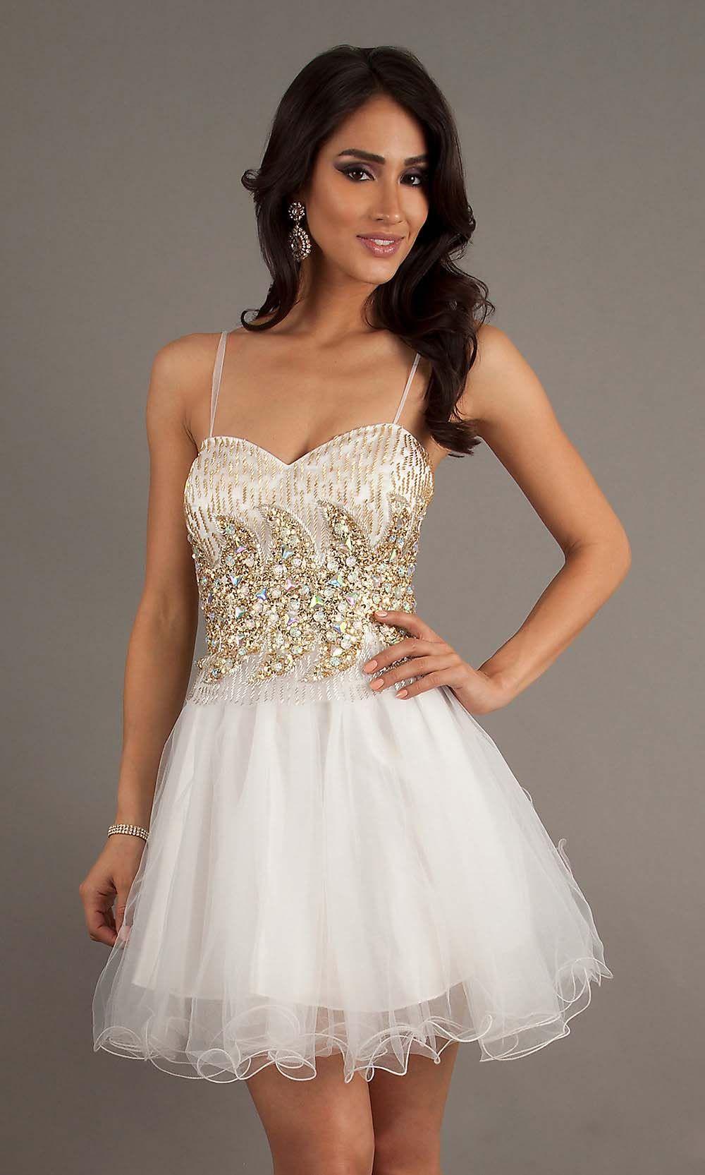 Popular white short sequin sweetheart prom dress short cheap prom