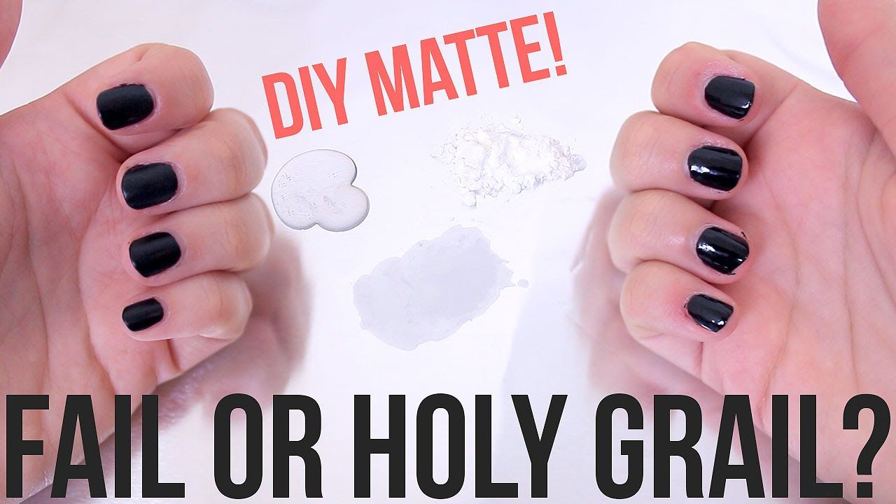 Beauty Hacks Fail Or Holy Grail Diy Matte Top Coat Ellko Matte Top Coats Beauty Hacks Nails