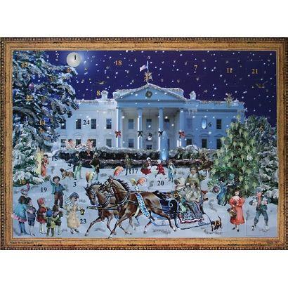Winter White House Victorian Style Advent Calendar.
