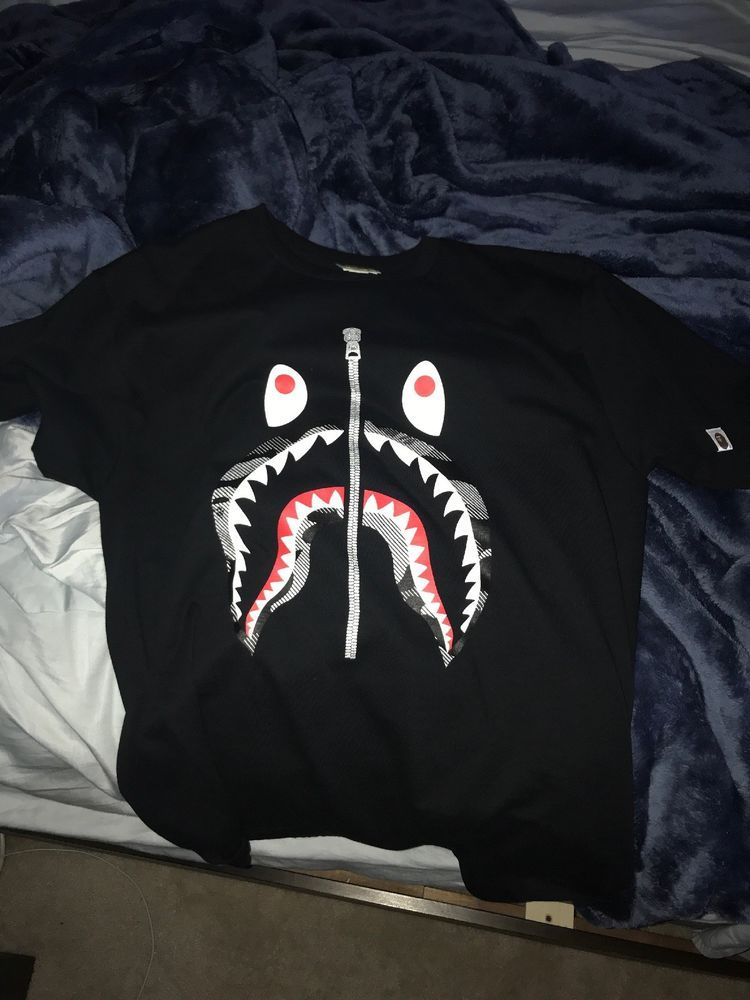 7de7e4ca9 Bape T Shrt Black Shark Logo Size Xl #fashion #clothing #shoes #accessories  #mensclothing #shirts (ebay link)