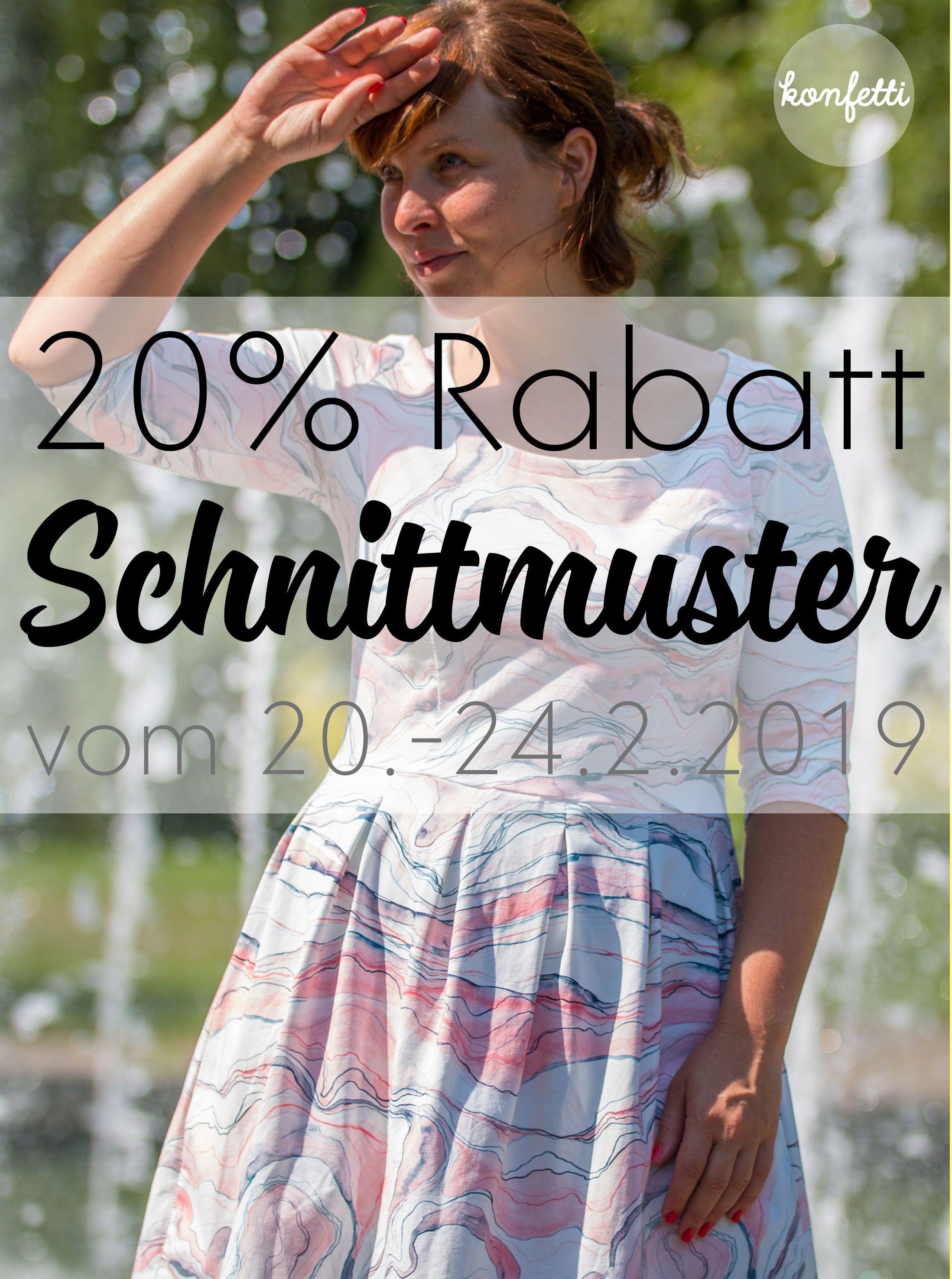 3e15971c01c Spare beim Kauf deiner Schnittmuster für den Frühling! Vom 20-24.2.2019 gibt