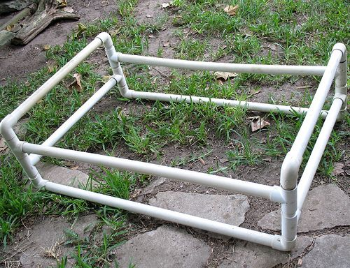 pvc dog bed frame im thinking of metal pipe instead