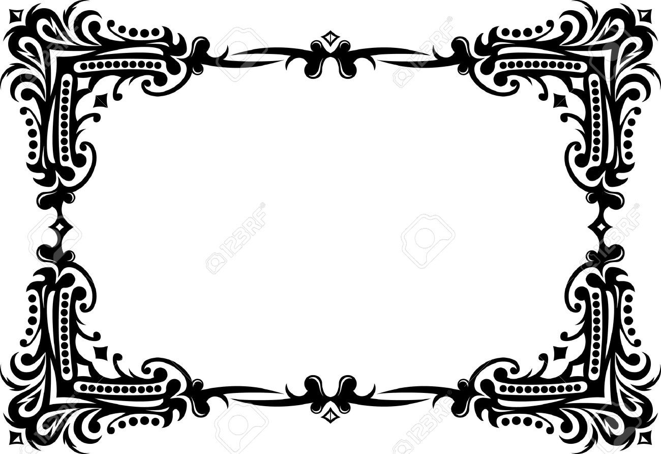 9930342 Elegant Decorative Frame Stock Vector Border
