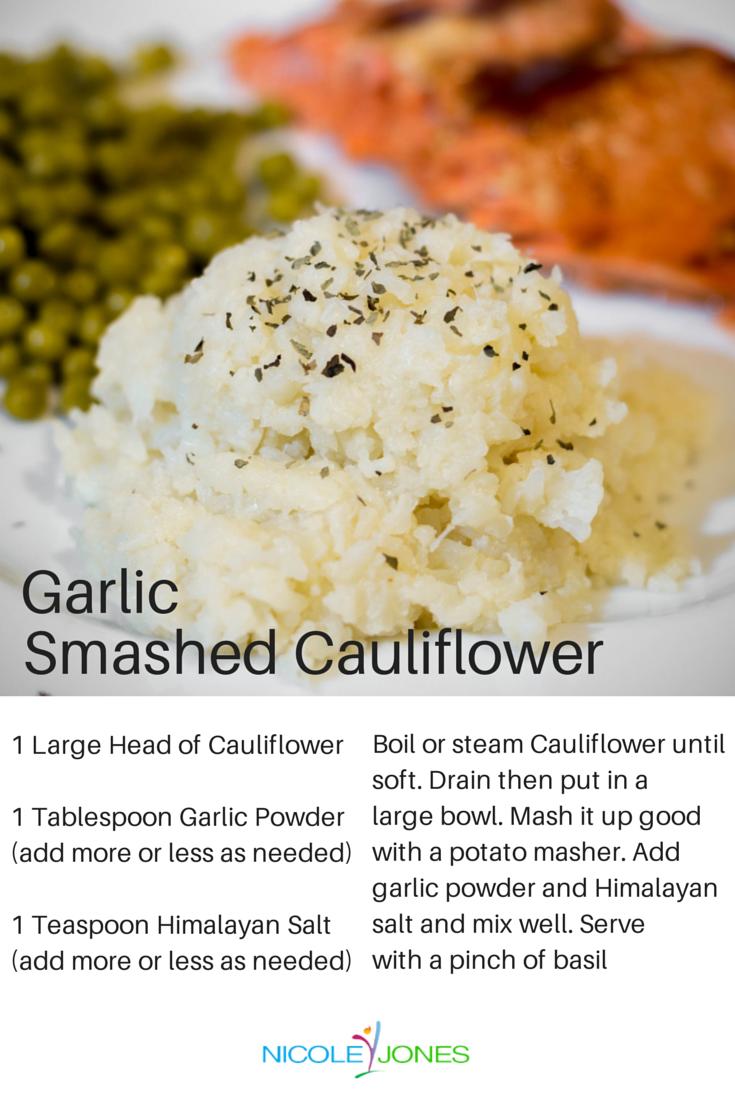 Garlic Smashed Cauliflower Recipe #easyrecipes #food #veggies #cauliflower