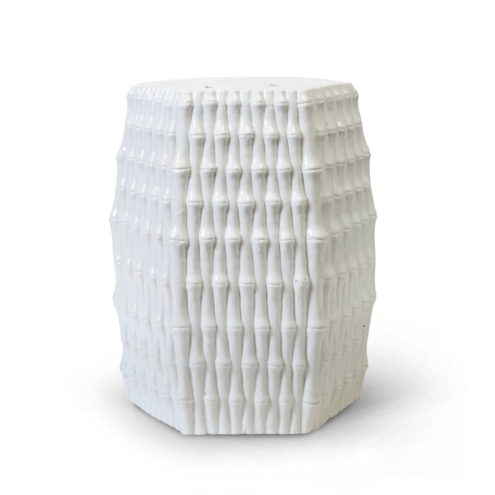 Burma Stool Side Table, White  Bungalow 5