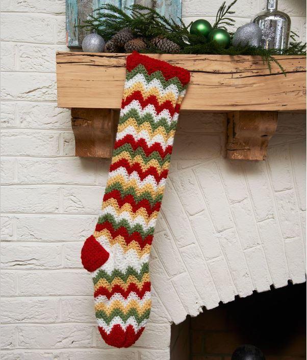 Fun Zigzag Christmas Stocking Pattern Stocking Pattern Christmas