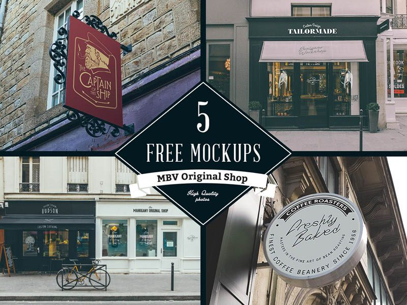 p>Download Free Shop Signboard Mockups Template PSD files. PSD set ...