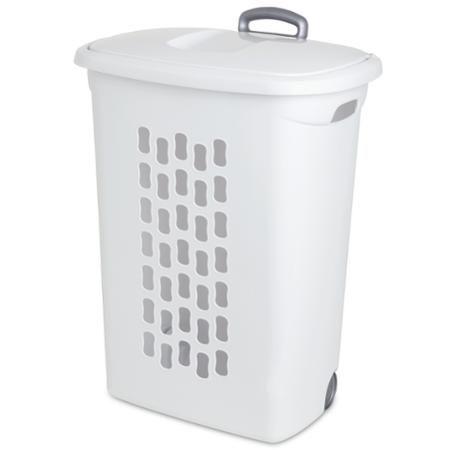 Sterilite Ultra Wheeled Laundry Hamper White Walmart Com