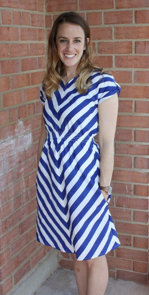 chevron dress tut. - a simple shape that can be adapted for different looks.