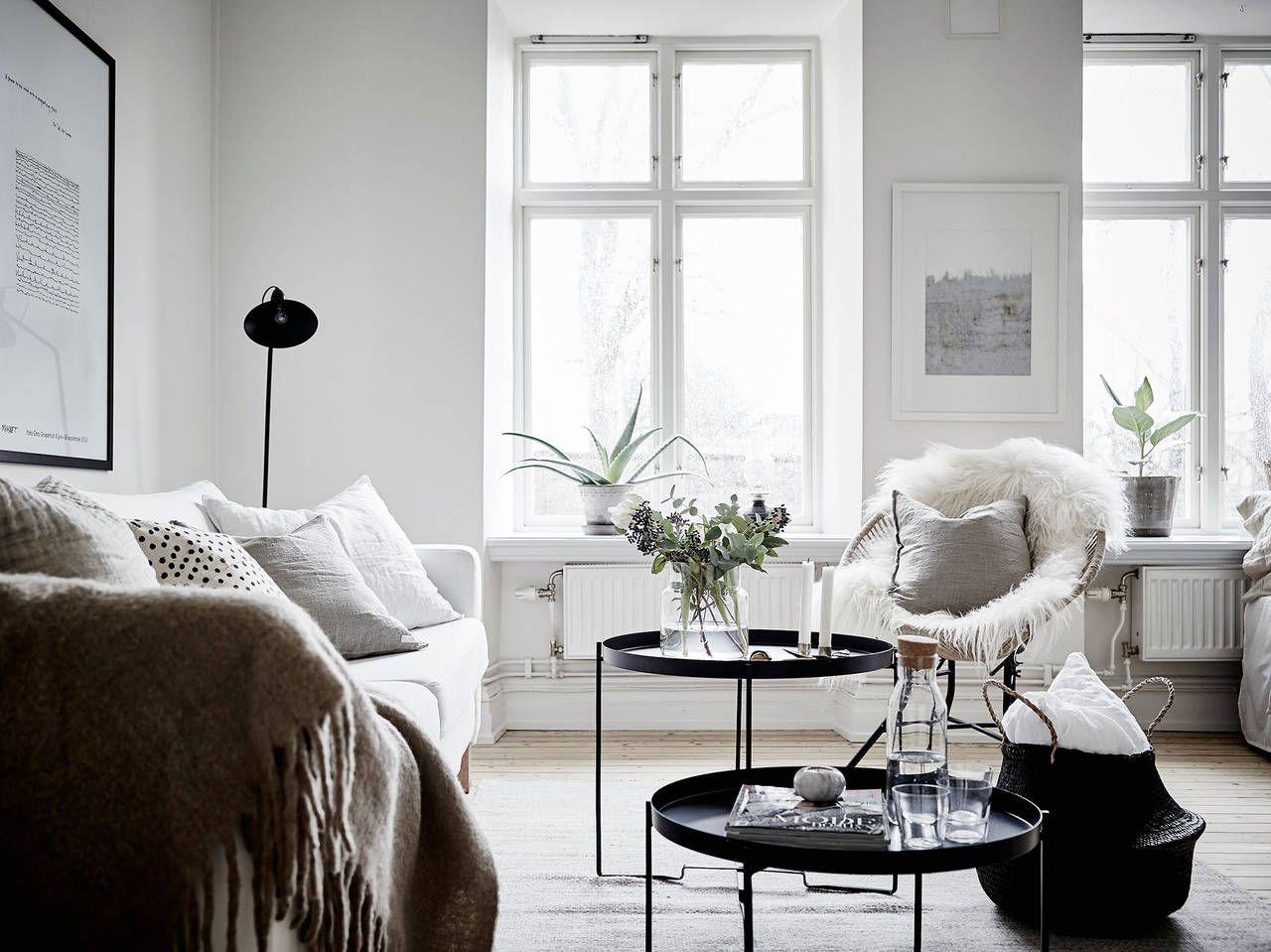 Scandinavisch appartement met heerlijk winterse look zachte