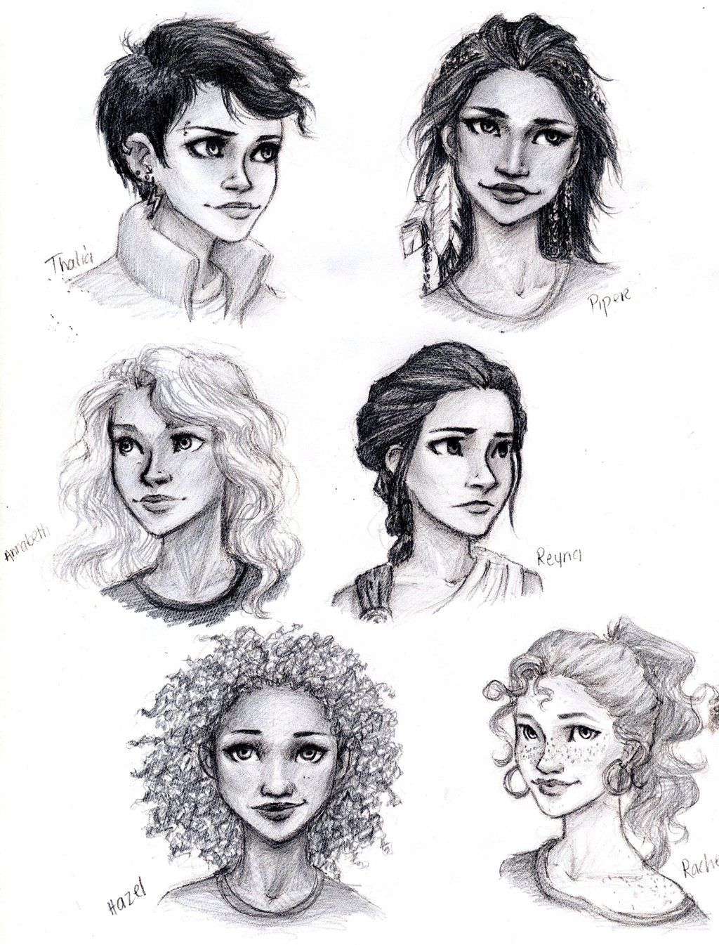 Percy Jackson Girls by meabhdeloughry.deviantart.com on