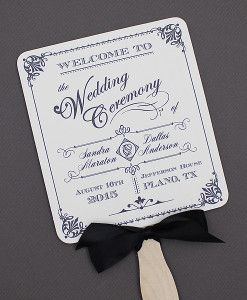 Ornate Vintage Wedding Paddle Fan Program Template Print