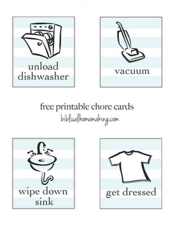 Free Printable Chore Cards For Kids Chore Cards Printable