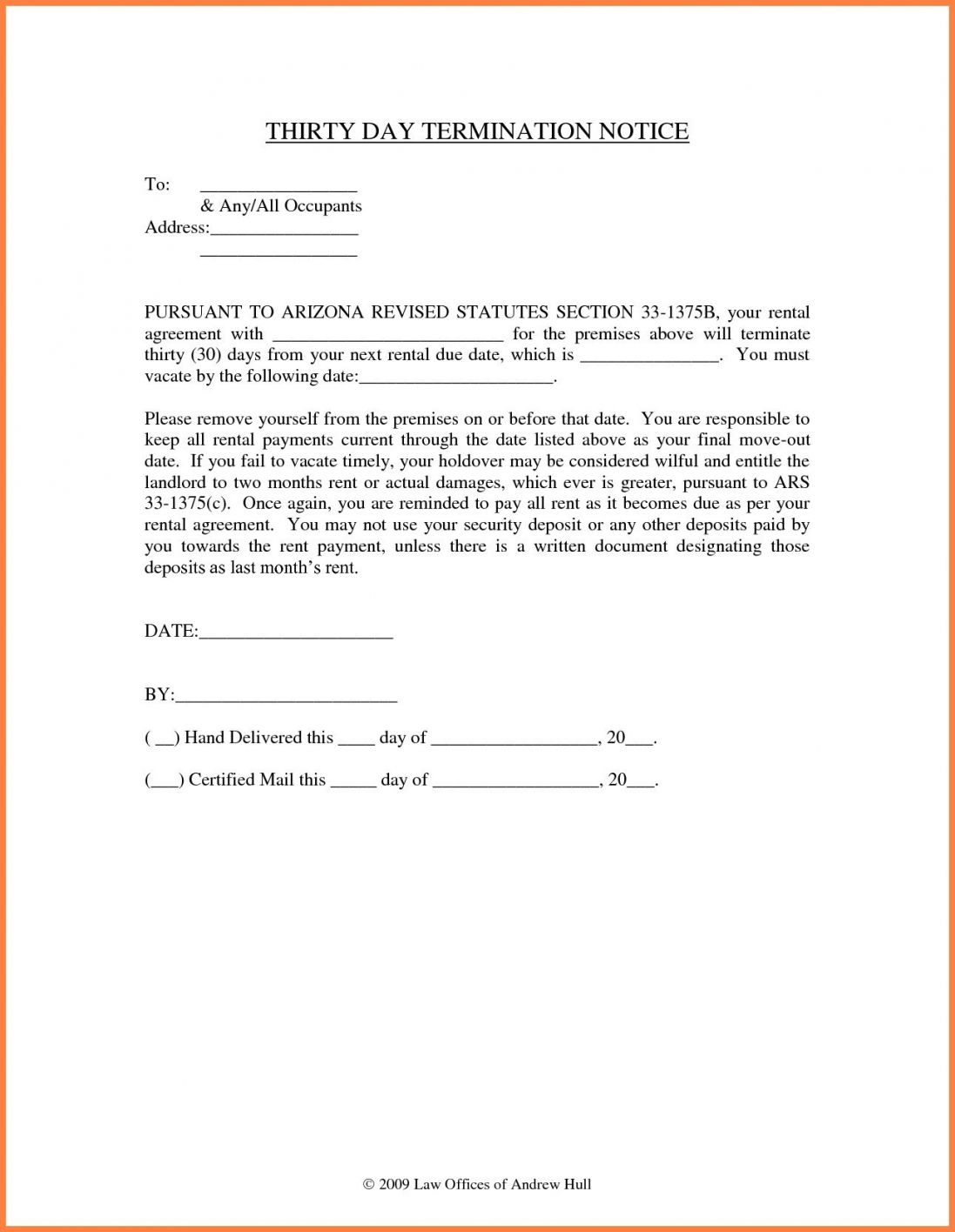 Sample Letter To Landlord To Vacate Di 2020