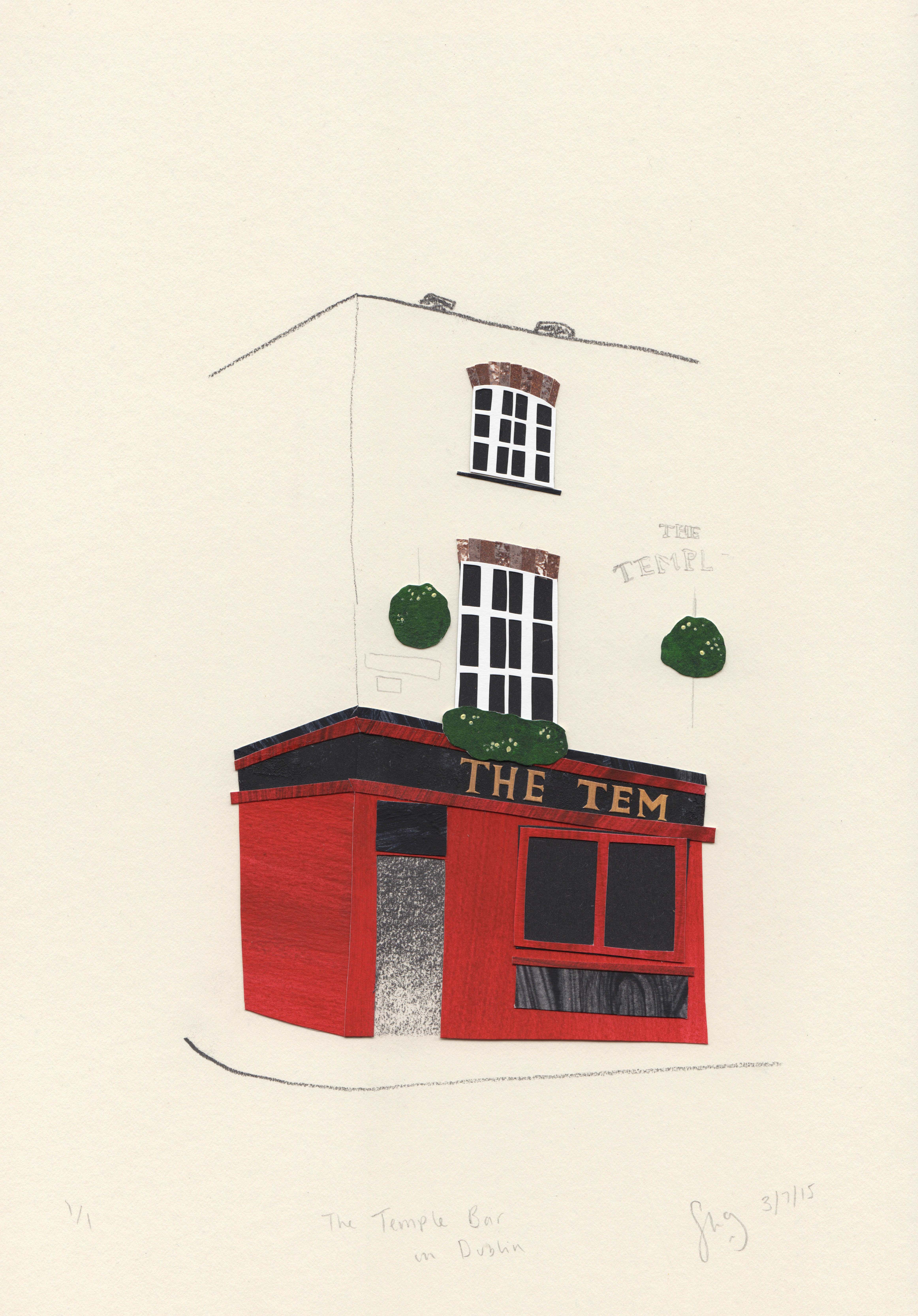 The Temple Bar, Dublin. Stacey Knights Illustration