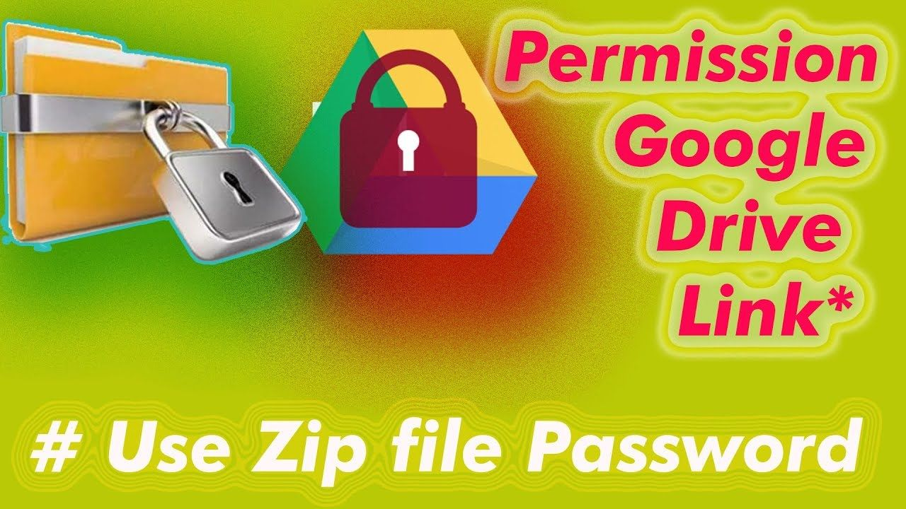 How to set permission in google drive share link
