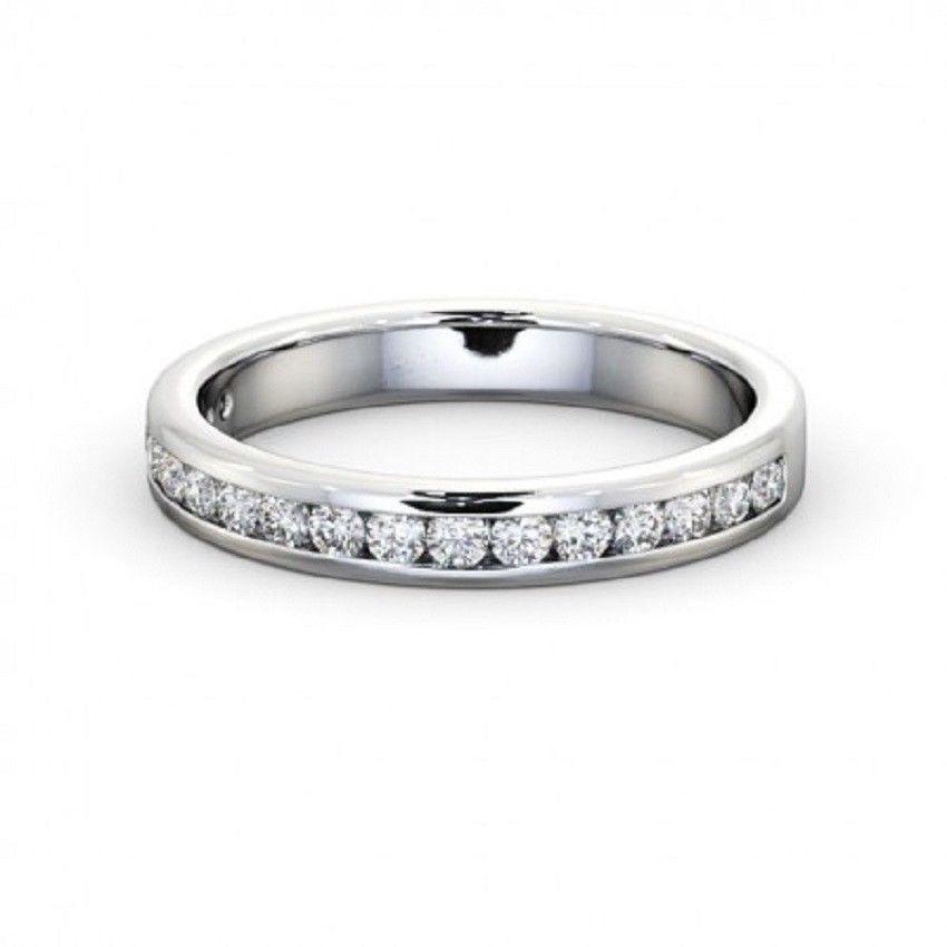 IGI Certificate Round Diamond Channel Half Eternity