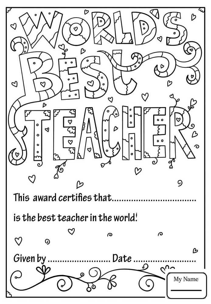 Free Printable Coloring Pages For Teacher Appreciation Week Tips