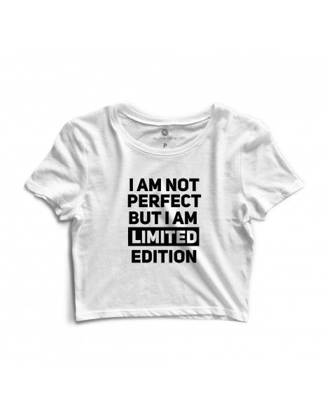 Cropped Morena Deluxe I Am Not Perfect Branco  10e348332c7