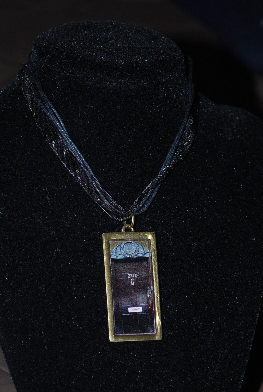 221b Baker Street door necklace. BBC Sherlock pendant. $10.00 via Etsy. & 221b Baker Street door necklace. BBC Sherlock pendant. $10.00 via ...