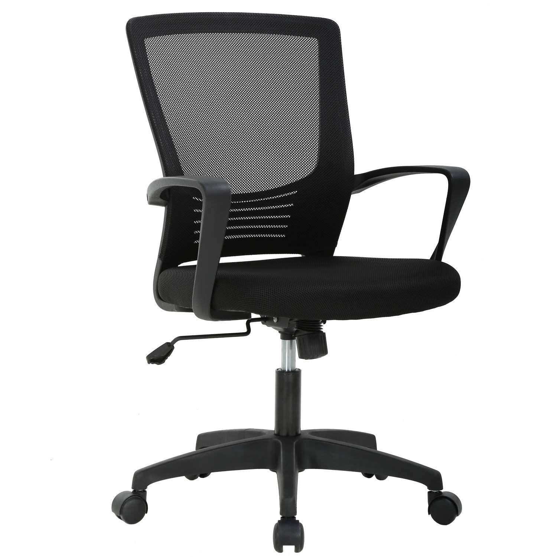 Ergonomic Office Chair Desk Chair Mesh Computer Chair With Lumbar Support Arms Modern Cute Swivel Cheap Office Chairs Ergonomic Office Chair Cheap Desk Chairs