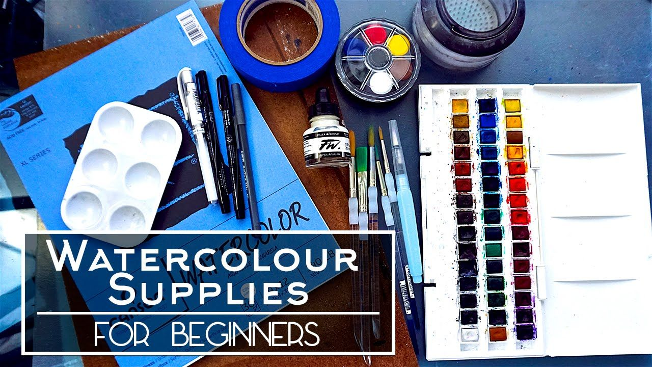 Watercolour Supplies For Beginners Youtube With Images