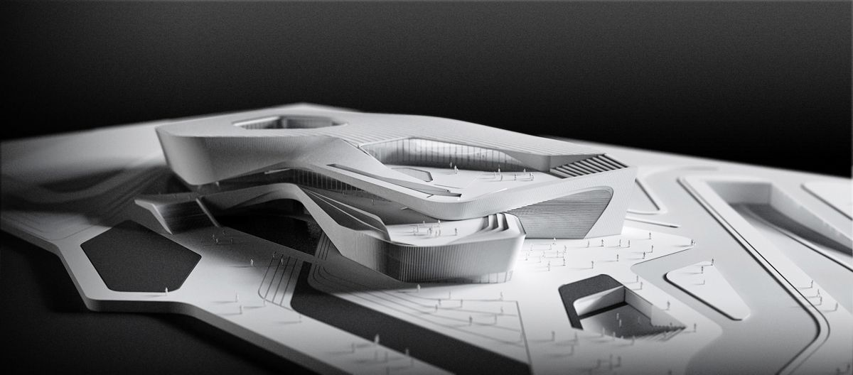 Architecture Design Models architectural model - zhuhai culture center competition design