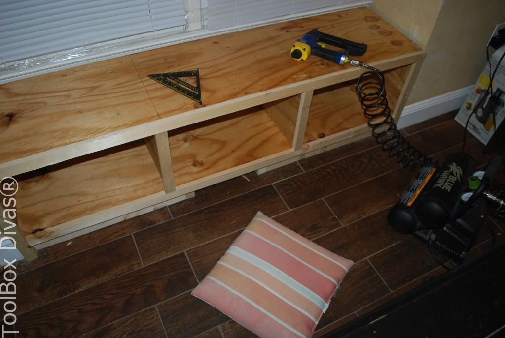 DIY Window Bench Seat With Drawer Storage | Diy storage ...