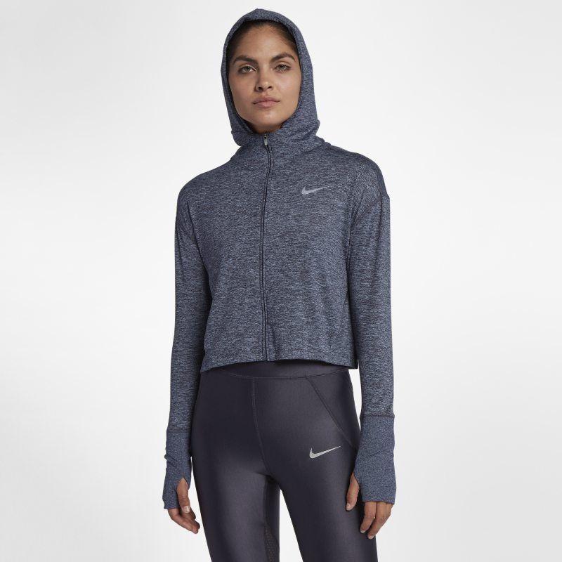 Nike Element Women's Full Zip Running Hoodie Black