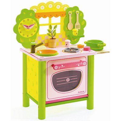cuisini re en bois ze kitchen djeco magasin de jouets pour enfants no l ylena pinterest. Black Bedroom Furniture Sets. Home Design Ideas