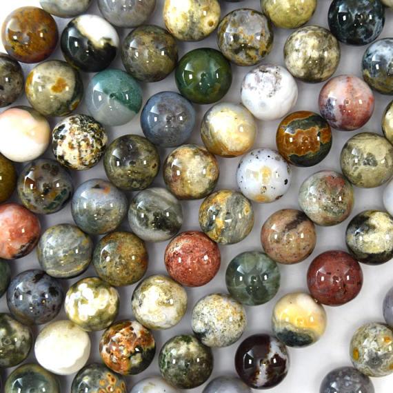 12mm Natural Ocean Jasper Round Beads 15 5 Strand S1 Etsy In 2020 Round Beads Ocean Jasper Semiprecious Stone Jewelry