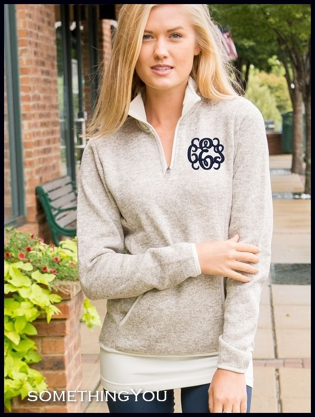 Something You - Heathered Oatmeal Fleece Pullover Sweater ...