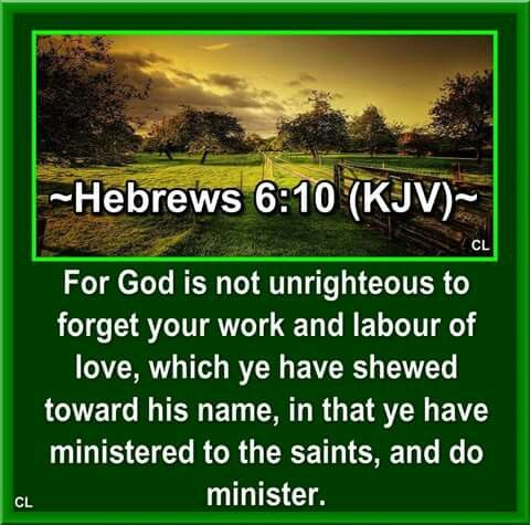 Image result for hebrews 6:10 kjv