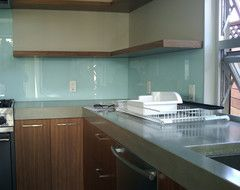 Where To End Kitchen Backsplash Houzz Glass Backsplash Kitchen