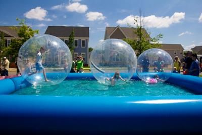 Water Walkers Of Lexington A Ride In A Human Hamster Ball