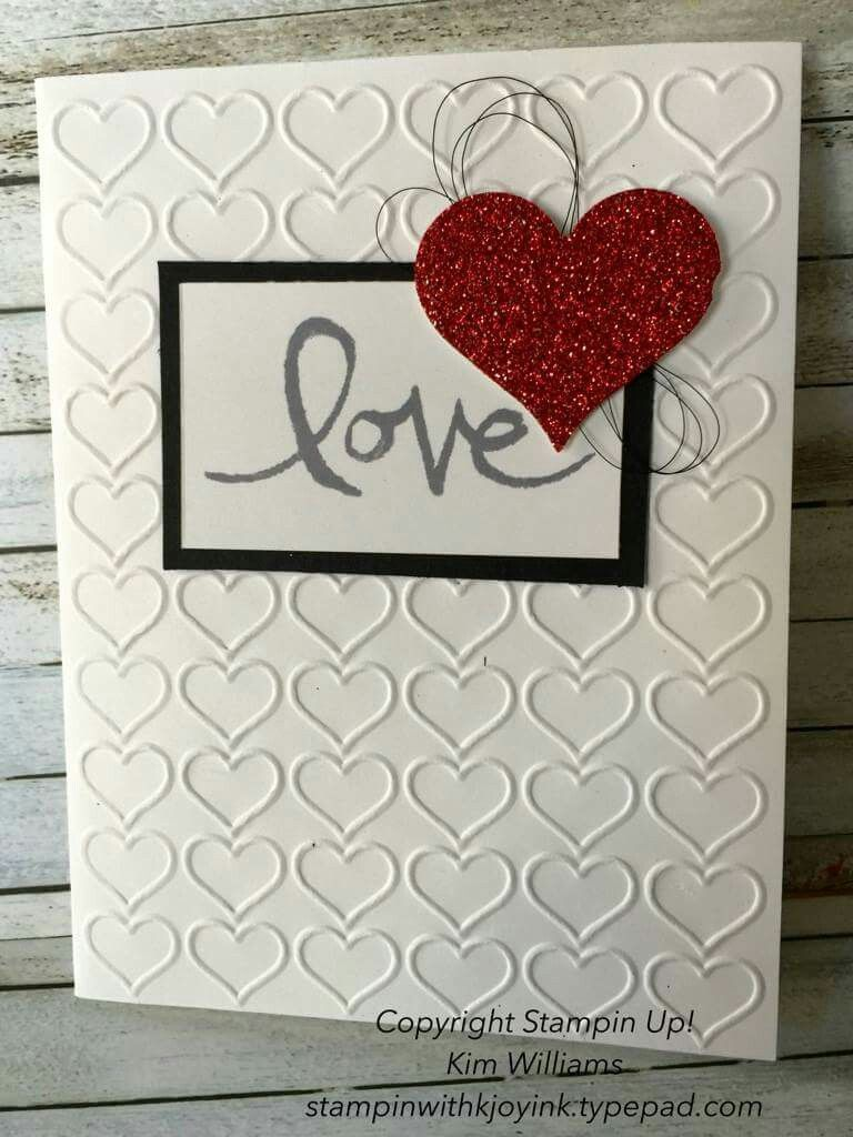 Pin by sheila riegel on stampin up cards pinterest cards card glitter happy heart emboss folder and sparkly red glimmer paper make this card a special valentine handmade cards made easy kristyandbryce Image collections