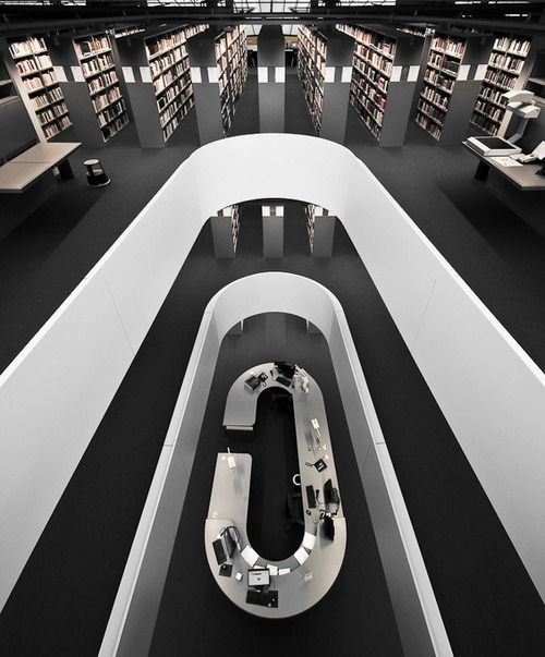 Philological Library of the Free University, Berlin, Germany. It was designed by Norman Foster in the shape of a human brain.