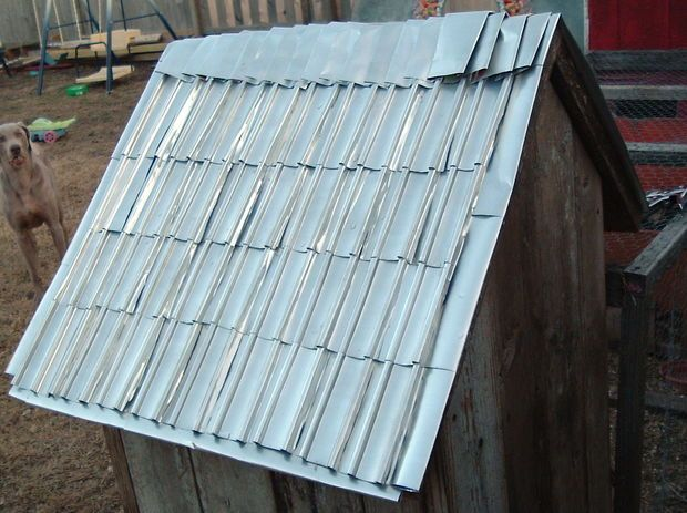 Make Shingles And Siding Out Of Aluminum Cans Beer Can
