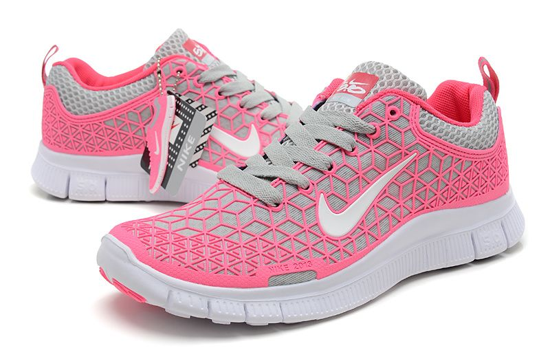 Womens Nike Free 6.0 Think Pink Soft Grey White Shoes [Free Runs 30 v4  Sneakers