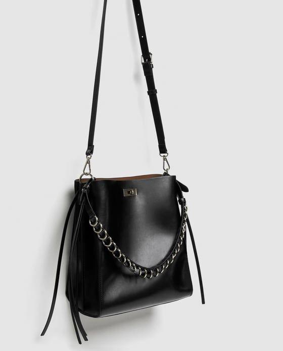 Bucket Bag With Rings At Handle Bags Bucket Bag