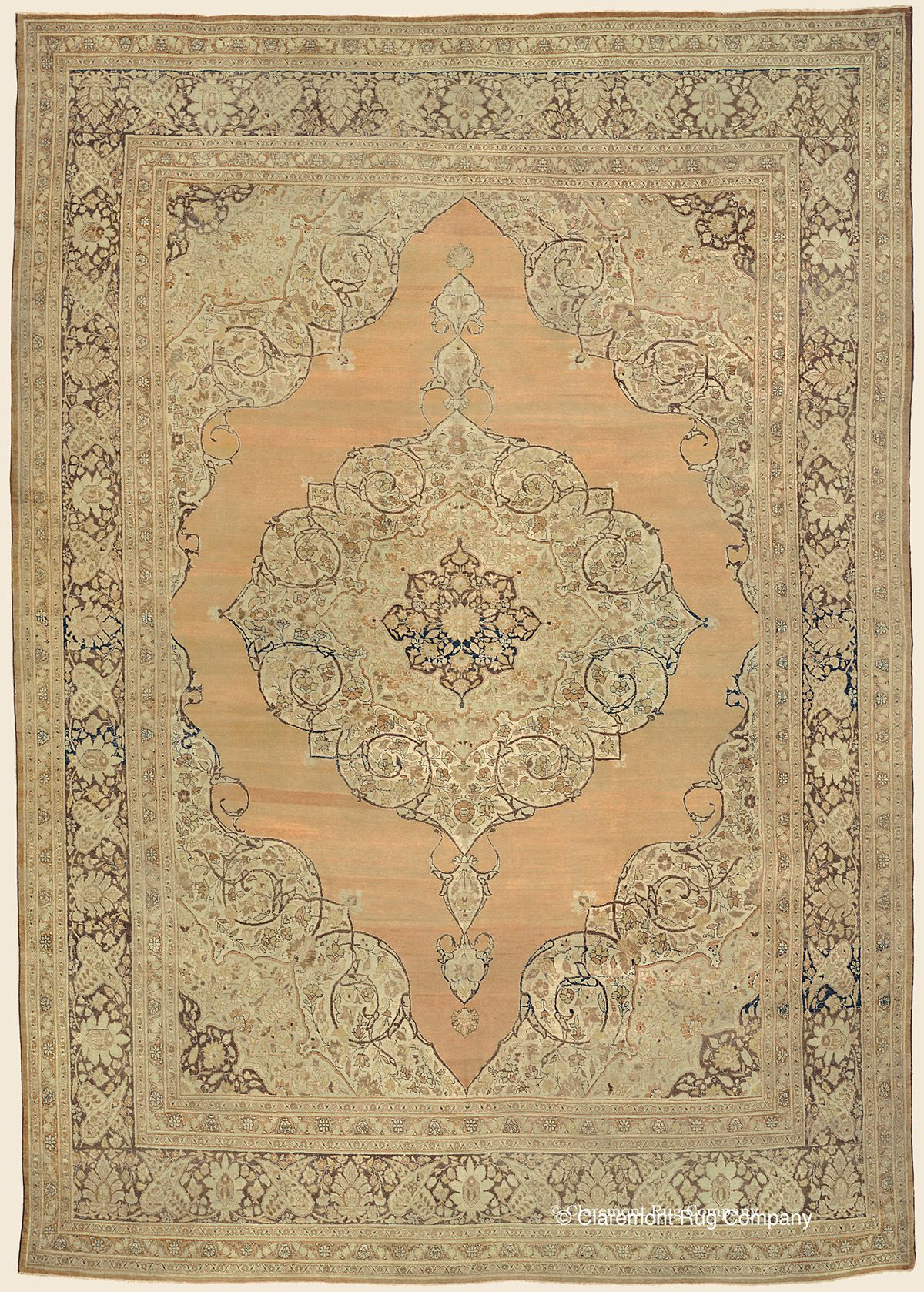 Hadji Jallili Haji Jalili Tabriz 9 6 X 13 1 Circa 1850 Northwest Persian Antique Rug Clar Persian Rug Designs Rugs On Carpet Antique Persian Carpet