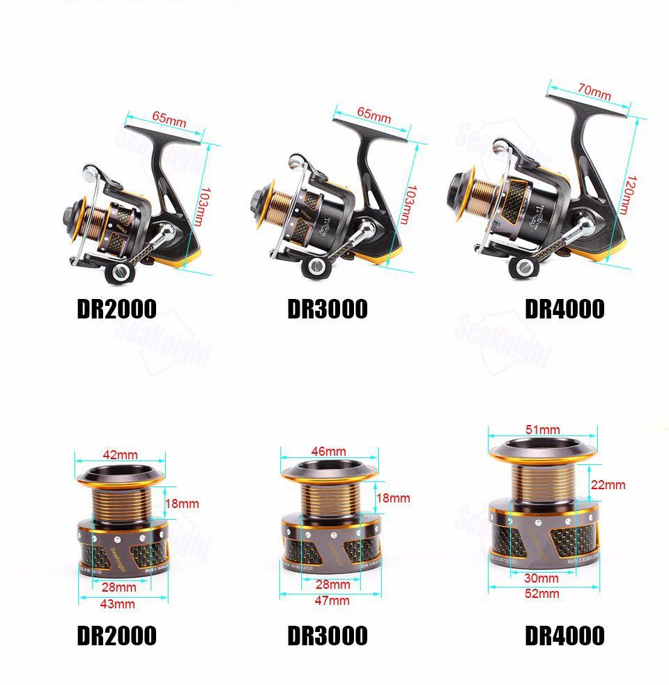 Front Drag Spinning Fishing Reel 3 Sizes To Choose From Free Shipping