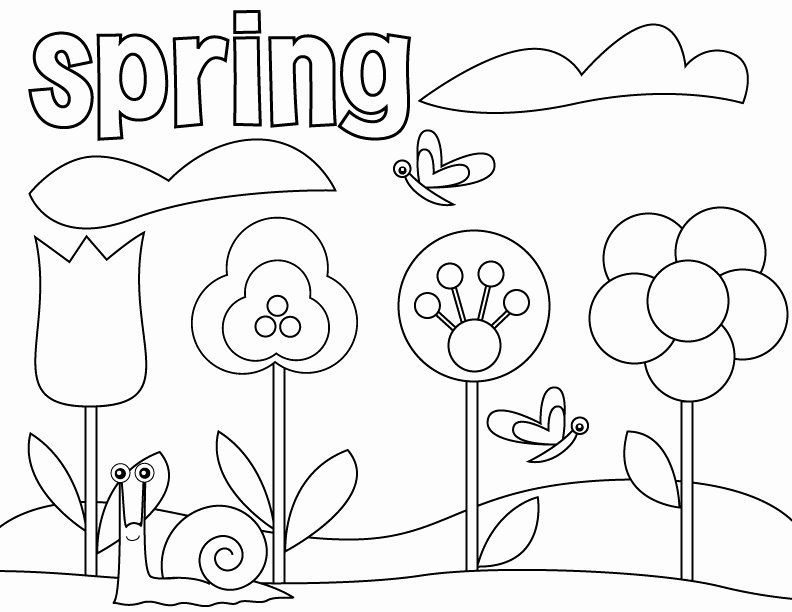 Spring Coloring Pages Free Printable In 2020 Spring Coloring