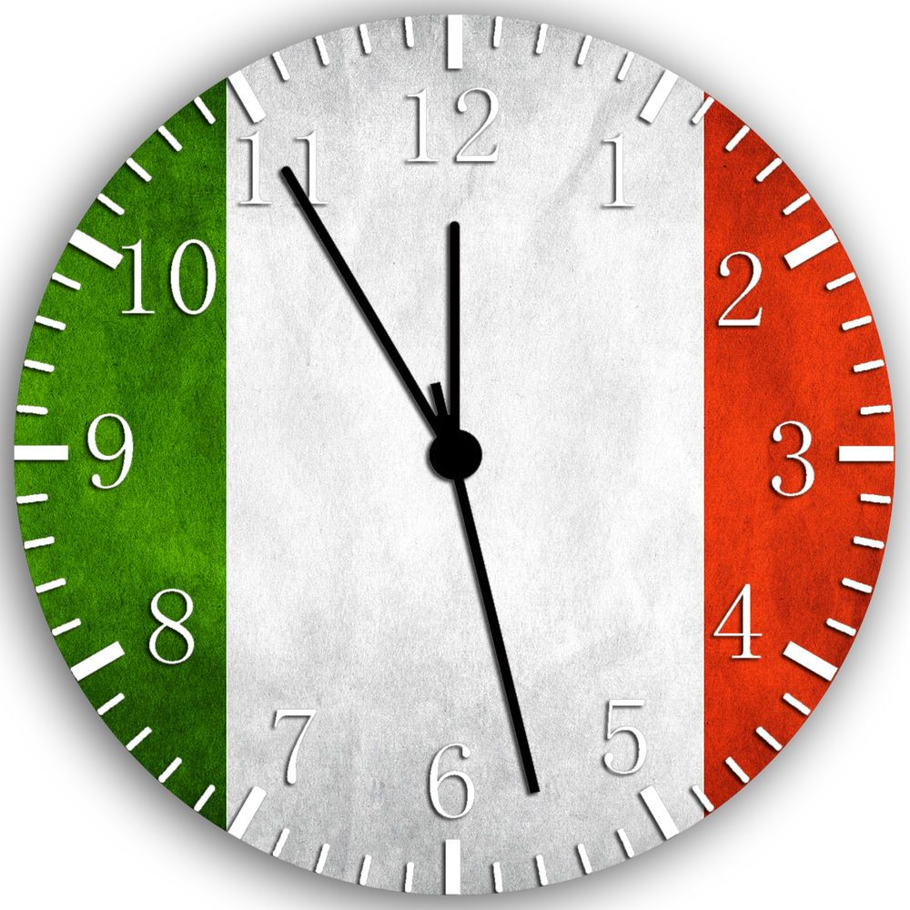 Flag of italy italian flag wall clock 10 nice gift and room wall flag of italy italian flag wall clock 10 nice gift and room wall decor w147 amipublicfo Image collections