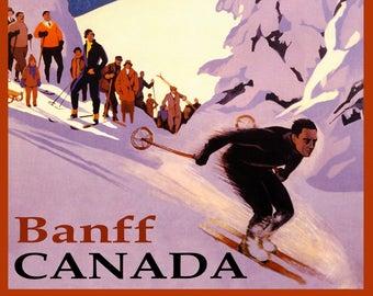Banff Ski Poster Etsy Ski Posters Poster Wall Art