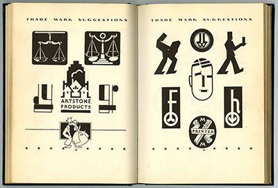 Samuel Welo:  TRADEMARK AND MONOGRAM SUGGESTIONS. New York: Pitman Publishing Corporation, 1937.